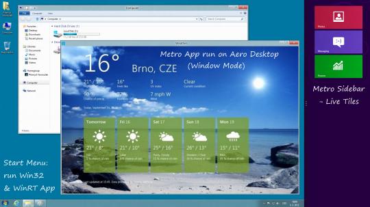 Windows 8 - můj návrh desktopového prostředí