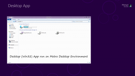 Win32 aplikace v prostředí Metro
