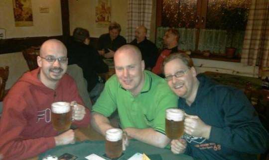 Patrik, Tomáš a já v novoročním přípitku ;)