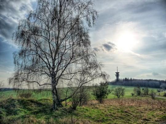 Krajina poblíž Bismarckovy rozhledny