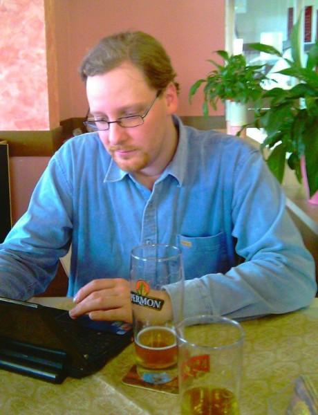 V restauraci U Kláštera s EeePC 901