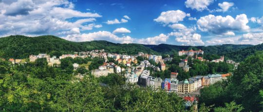 Výhled na Karlovy Vary